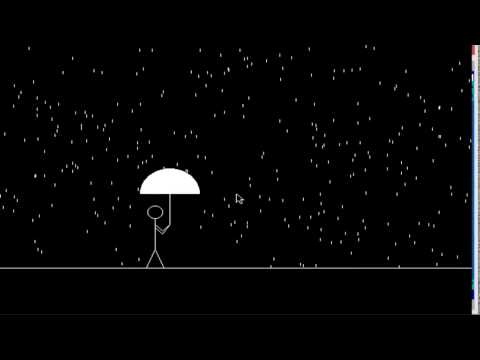Computer Graphics Program For Man Walking In the Rain In C Programming