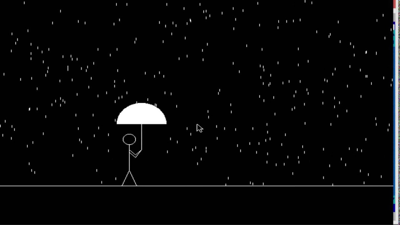 Computer Graphics Program For Man Walking In The Rain In C