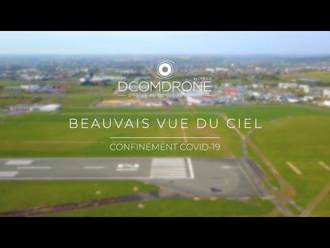 Beauvais vue du ciel pendant le confinement - Vidéo par drone DCOMDRONE