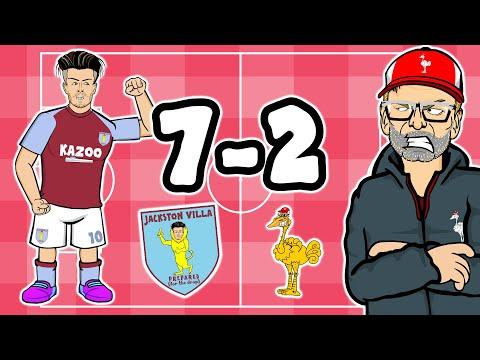 7-2!🤯 Aston Villa vs Liverpool (Reaction to goals and ...