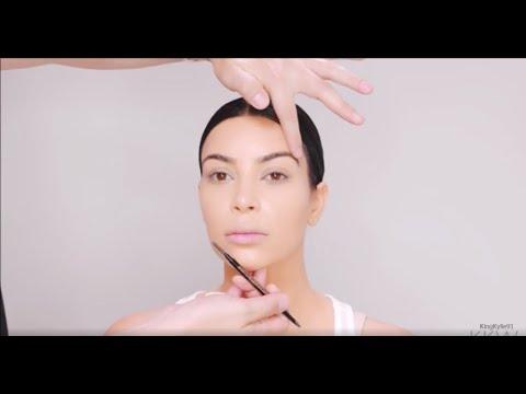 [FULL VIDEO] Kim Kardashian   The Perfect Eyebrow Tutorial By Mario Dedivanovic