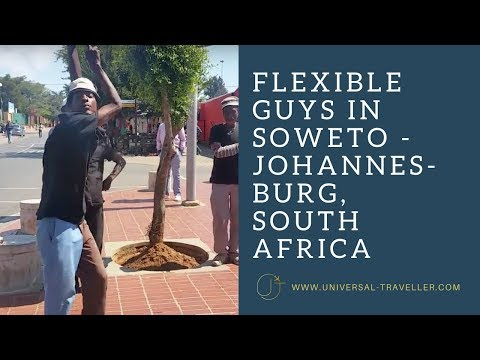 "Flexible guys, Soweto street performers nominated for ""Das Supertalent"", Johannesburg, South Africa"