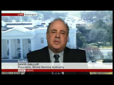 BBC World News Show  Global     Interview with David Gallup