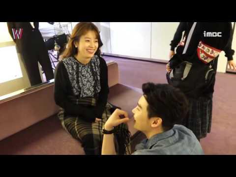 Behind the scene korean drama W Lee Jong-seok  Han Hyo-joo