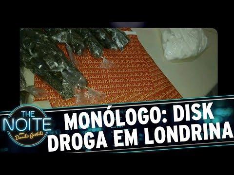 Monólogo: Disk Droga usava embalagens de fast food na entrega | The Noite (22/08/17)