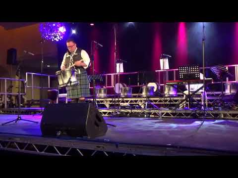 Steven McWhirter drum solo at the Inveraray & District Concert