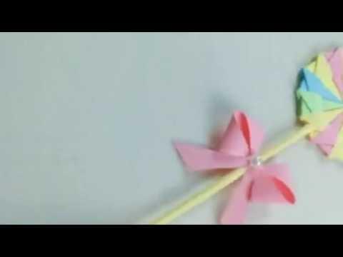 Vlog Kids making Paper lollipop,Easy DIY Origami Lollipop for fun