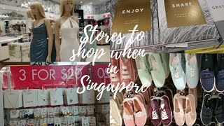 My favourite Stores to shop  in Singapore