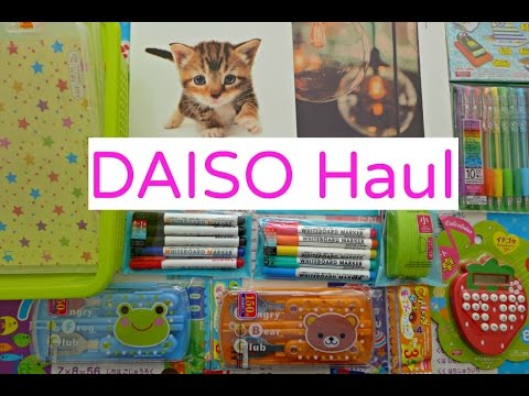 DAISO Haul - Homeschool Stationery and Resources