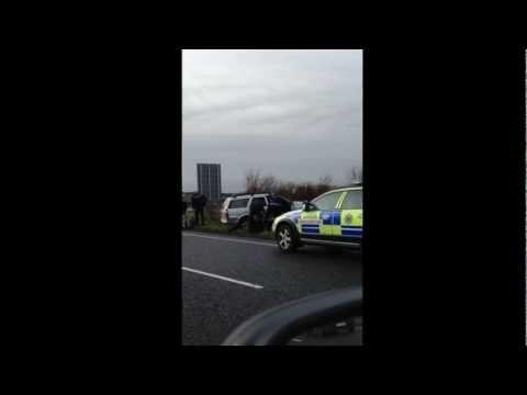 Garda Car Chase on M1 Motorway, Republic of Ireland