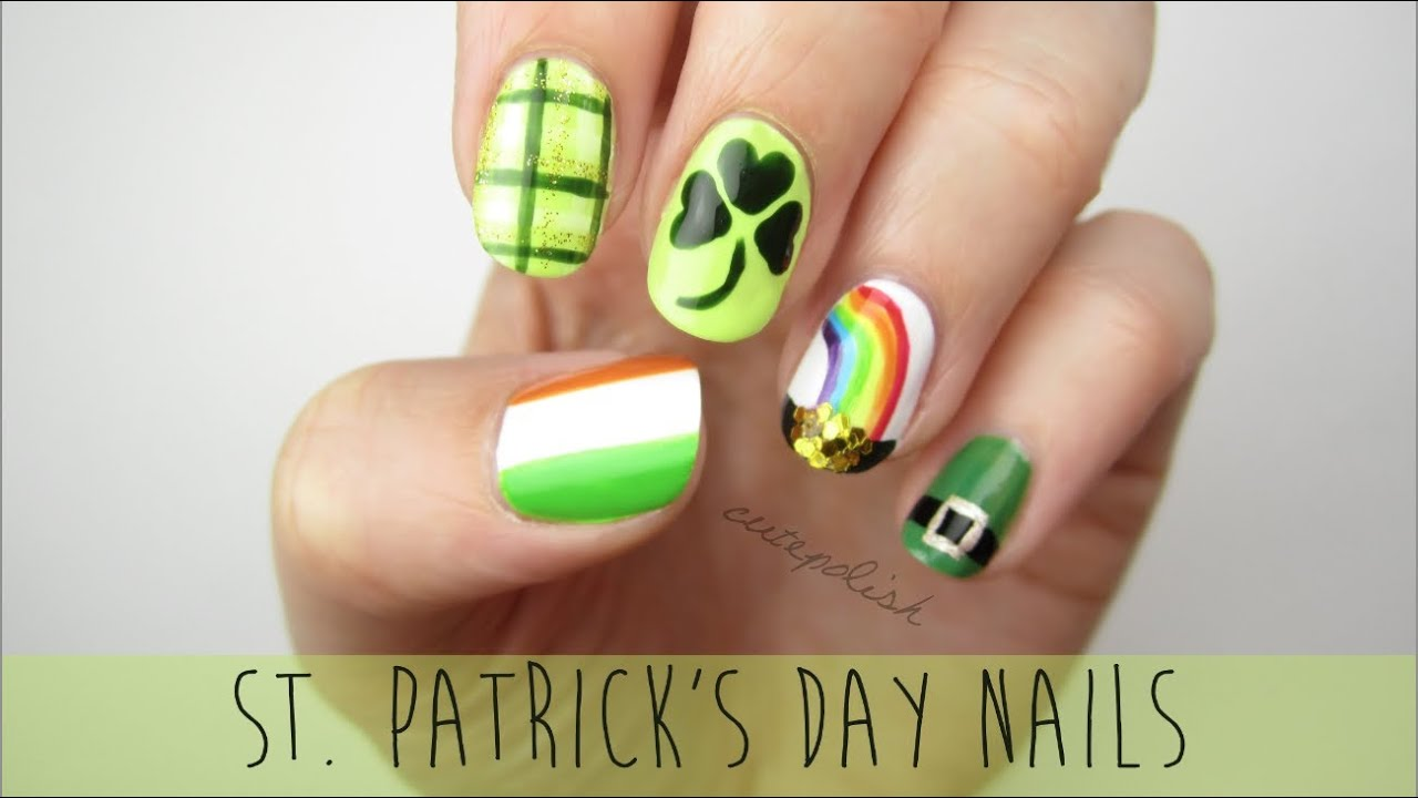 Nail Art For St Patricks Day A Mini Guide Youtube