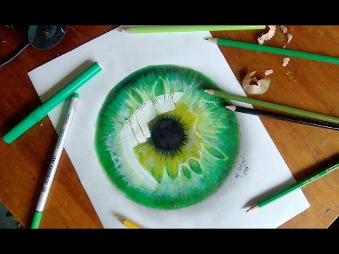 How to draw a hyper realistic eye- Jacksepticeye