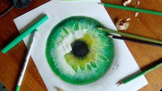 How to draw a hyper realistic eye- Jacksepticeye || speed drawing
