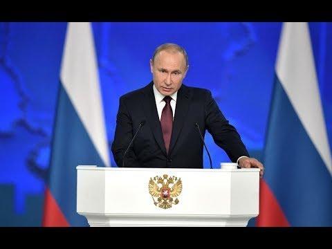 Прямой эфир: ежегодное послание Президента России Владимира Путина Федеральному Собранию