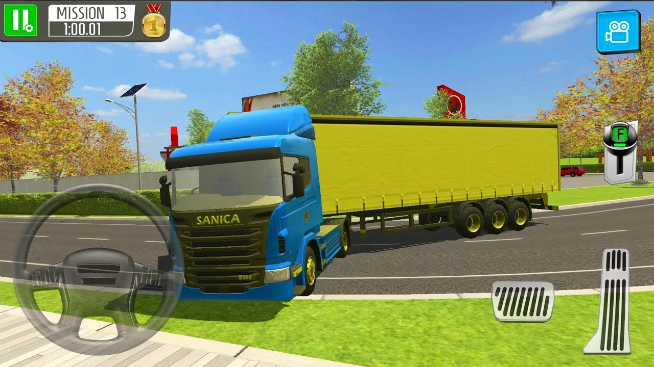 Construction site truck driver, çocuklar için kamyonet oyunu.