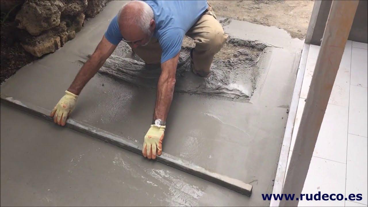 Nivelado de mortero de cemento v deo 1 youtube for Mortero de cemento
