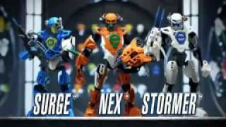 LEGO Hero Factory Ordeal of Fire Nex, Stormer, Surge & Drilldozer Commercial