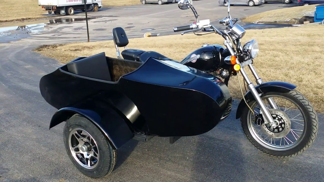250cc motorcycle with sidecar rtd road cat for sale youtube. Black Bedroom Furniture Sets. Home Design Ideas