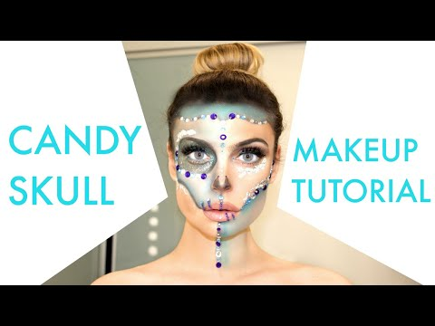 Candy Skull / Sugar Skull Halloween Makeup Tutorial thumbnail