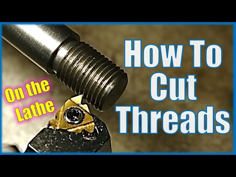 How to cut a thread on a manual lathe (Intermediate method ideal for home workshop & hobby engineer)