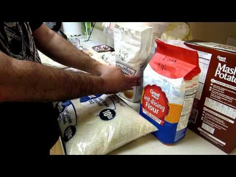 Storing food staples on a budget