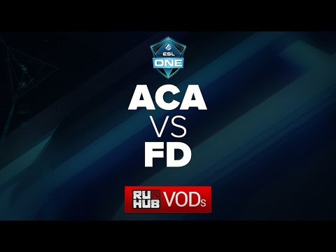 AcA - First Departure, ESL One Frankfurt China Qual, game 2