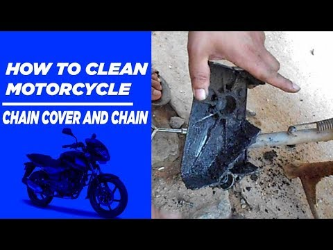 How to clean pulsor 180 bike chain  and chain cover easily ||