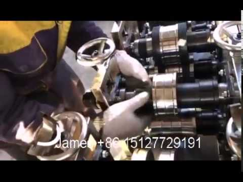the video of  the light weight keel forming machine change  molds