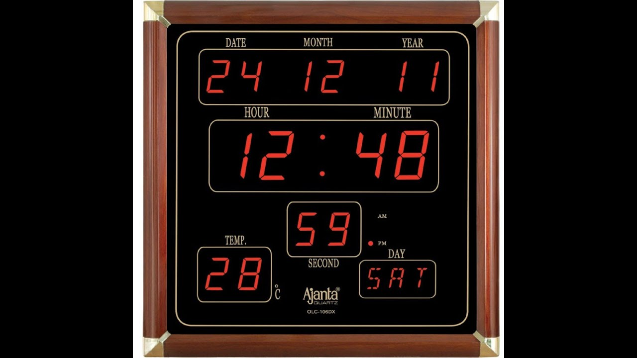 Ajanta led digital wall clock olc 106 dx user review youtube Digital led wall clock