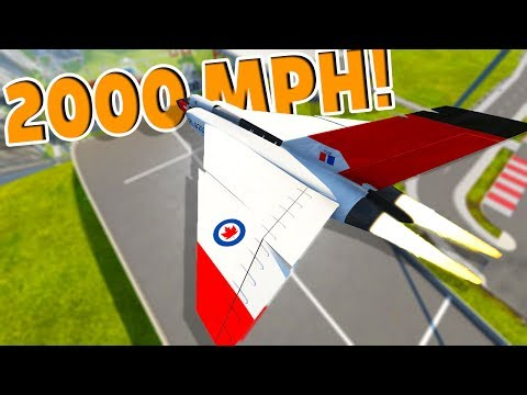 THE FASTEST VEHICLE EVER VS CAR JUMP ARENA! - BeamNG Drive Avro Arrow Jet Plane Flying and Crashing