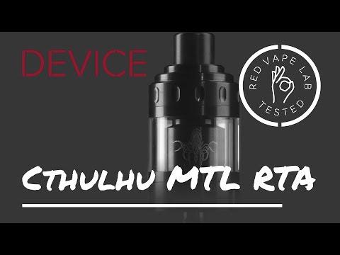 Бак Cthulhu MTL RTA: обзор от лаборатории RED