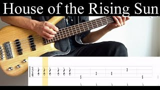 House Of The Rising Sun (The Animals) - Bass Cover (With Tabs) by Leo Düzey