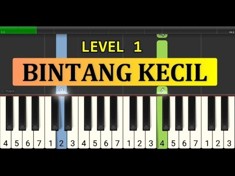 Nada Piano Bintang Kecil - Tutorial Piano Grade 1 - Lagu Anak Anak Indonesia - Not Pianika