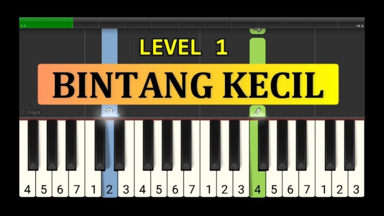 Nada Piano Bintang Kecil Tutorial Piano Grade 1 Lagu Anak Anak Indonesia Not Pianika Youtube