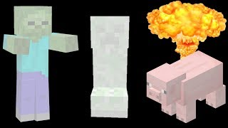 Minecraft, But Every Mob Explodes