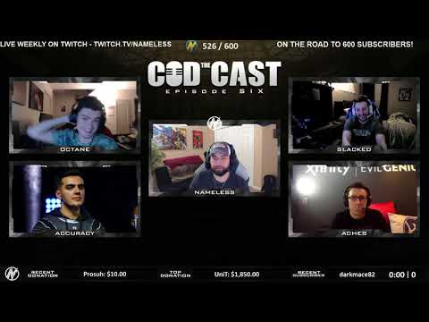 The CODCAST #6 WITH ACHES, ACCURACY, OCTANE and SLACKED