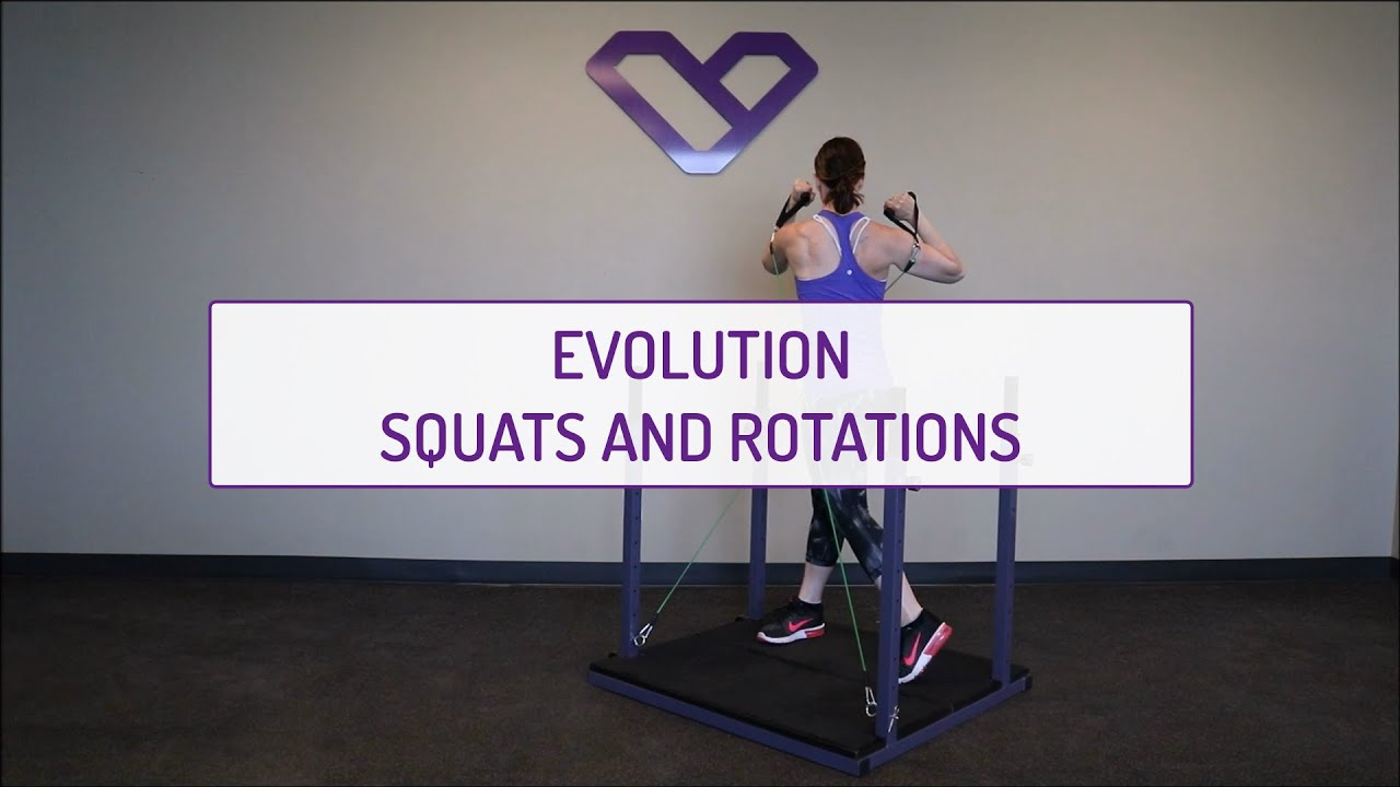 Home Exercises | Evolution Squats and Rotations | Strength | Legs and Obliques