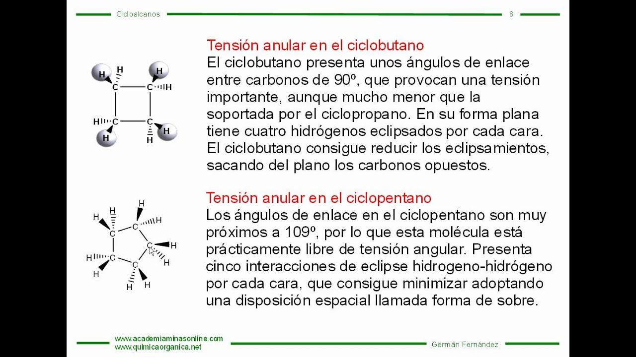 Teoría De Cicloalcanos Parte 1
