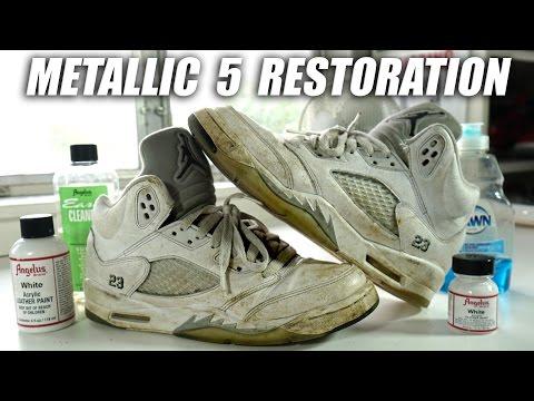 Jordan Metallic 5 Full Restoration! A Quick Thrift Fix!