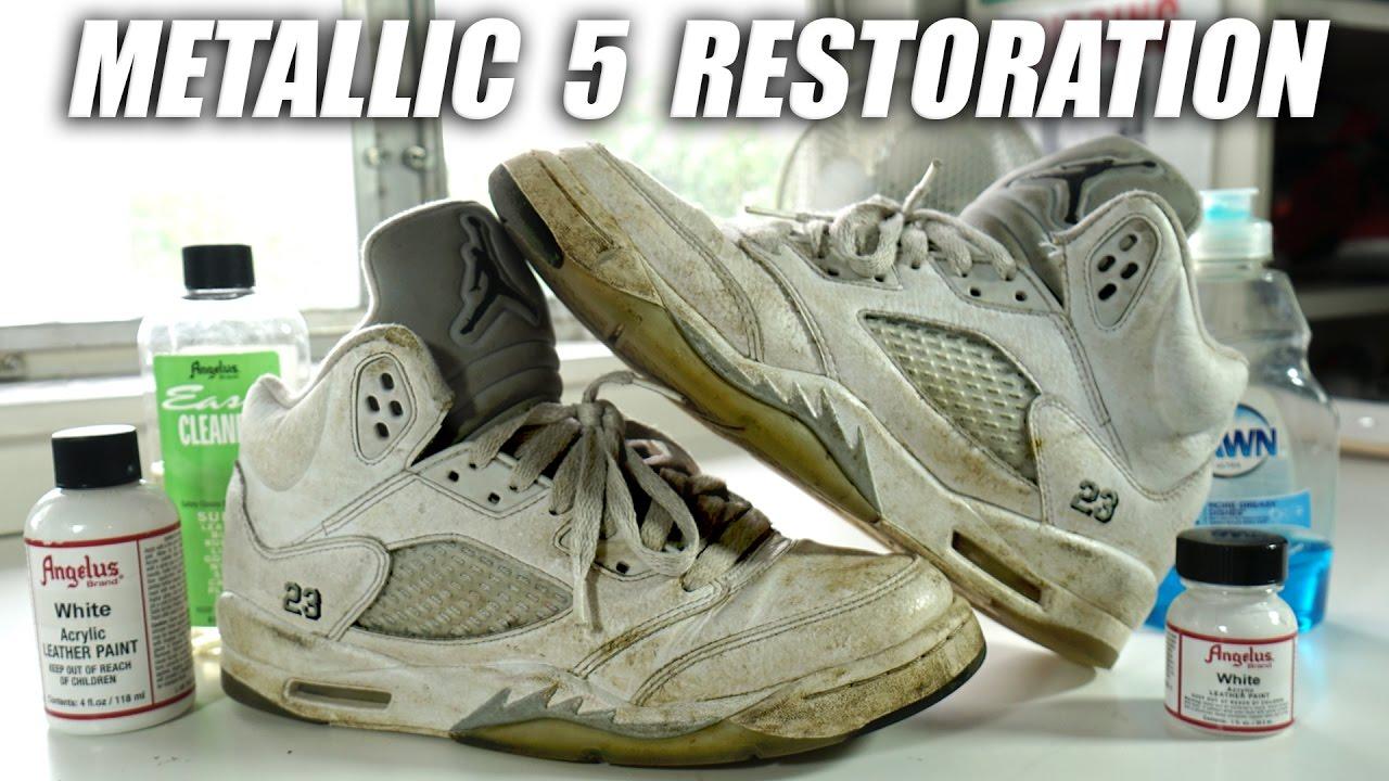 091c6e7679fa4a Jordan Metallic 5 Full Restoration! A Quick Thrift Fix! - YouTube