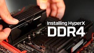 как установить модуль памяти DDR4  HyperX