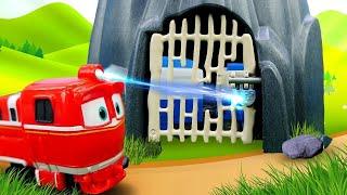 Роботы-поезда— Мультики для мальчиков про поезда имашинки— Куда исчезли вагончики Кея?