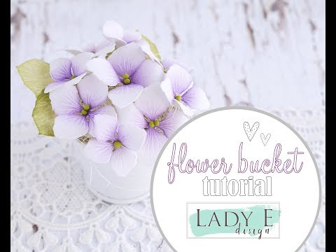 How To Make Paper Flowers in a Bucket / DIY Hydrangea
