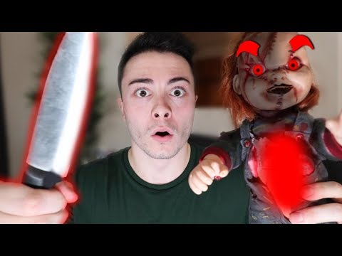 CUTTING OPEN EVIL CHUCKY DOLL AT 3 AM!! (WHAT'S INSIDE EVIL CHUCKY DOLL)