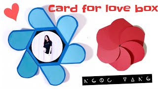 Card for Love Box! Thiệp hoa 6 cánh cho Love box - NGOC VANG