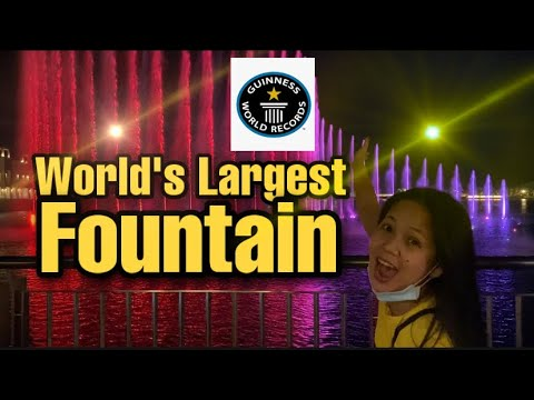 World's Largest Fountain | The Palm Fountain Dubai breaks Guinness World Record | The Pointe Dubai