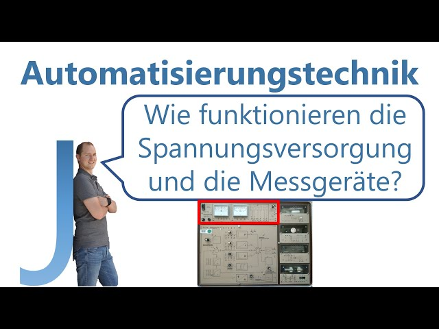 Wie funktionieren die Spannungsversorgung und die Messgeräte des Regelungstechnik-Koffers? E01 S04