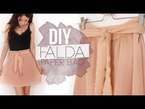 DIY PAPER BAG SKIRT | Cómo hacer una falda plisada