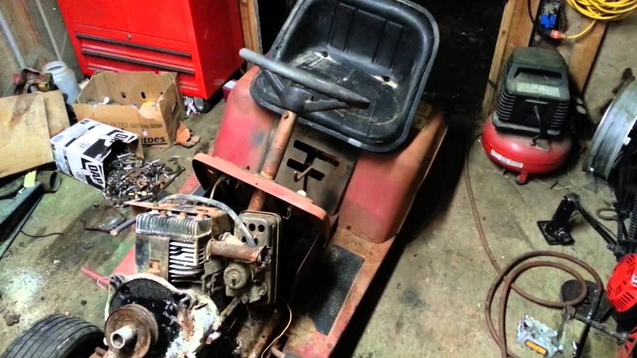 Murray Racing Mower : Murray race mower build tear down part youtube
