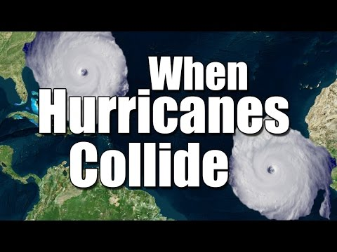 When hurricanes collide:
